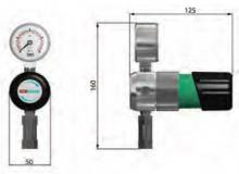 Габаритные размеры регулятора давления LMD 500/530-01/03