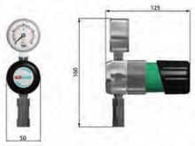 Габаритные размеры регулятора давления LMD 510-01