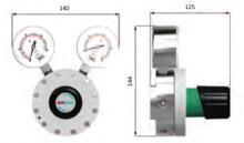 Габаритные размеры регулятора LMD 545-03